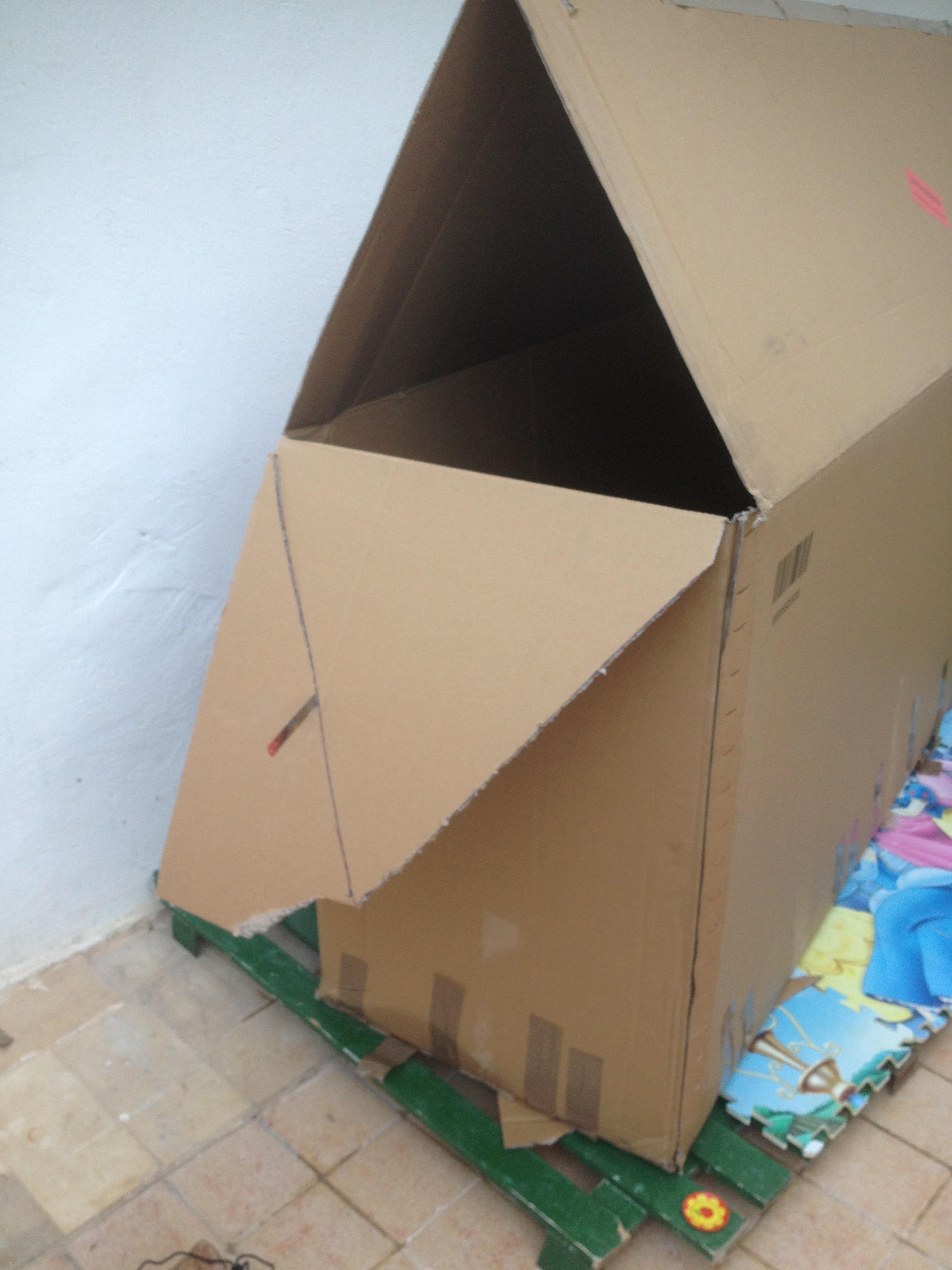 Cabane En Carton Diy cabane pour enfants , diy